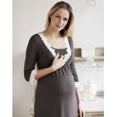 Chemise de nuit grossesse grise