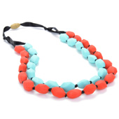 Collier maman Chewbeads Astor turquoise et cherry red
