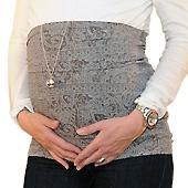 Bandeau de grossesse droit gris
