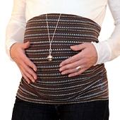 Bandeau de grossesse froncé point
