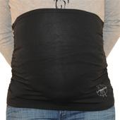 Bandeau de grossesse noir froncé