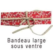 Bandeau de grossesse liberty rouge ceinture
