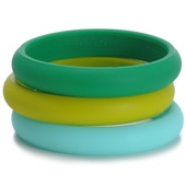 Bracelets maman Chewbeads Skinny Charles Bangle Emerald Green