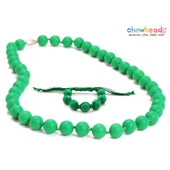 Collier et Bracelet silicone maman duo Emerald Green