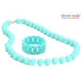 Collier et Bracelet silicone maman duo Turquoise Jane