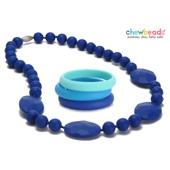 Collier et Bracelets silicone maman duo Cobalt