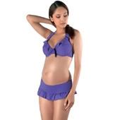 Maillot bikini grossesse salsa violet