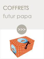 Coffrets cadeau futur papa